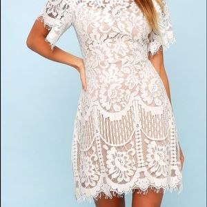 White crochet dress - never worn, with tags